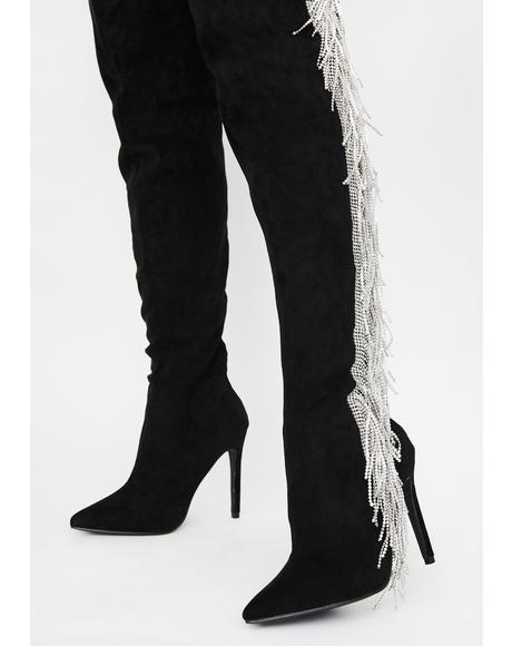 Status Game Thigh High Boots