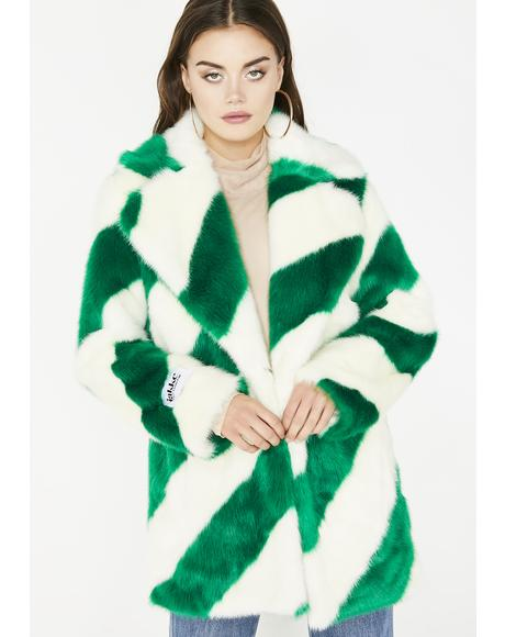 Peridot Heather Coat