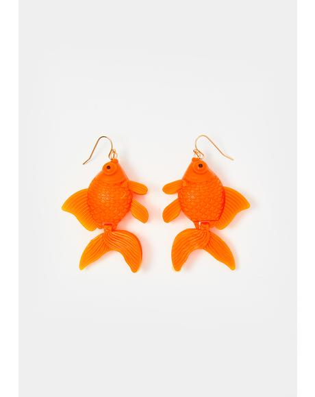 Fish Outta Water Drop Earrings