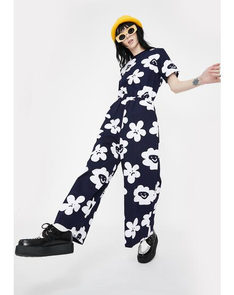 Pushing Daisies Wide Leg Jumpsuit