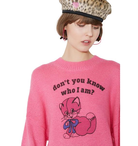 Lazy Oaf Know Who I Am Sweater