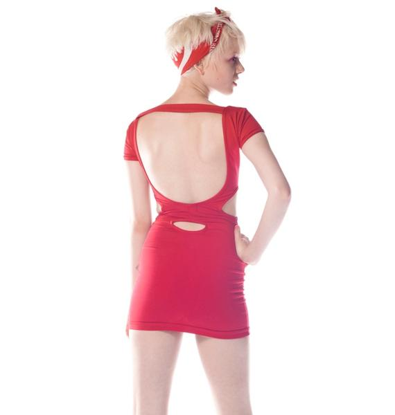 Peephole Cut Out Dress