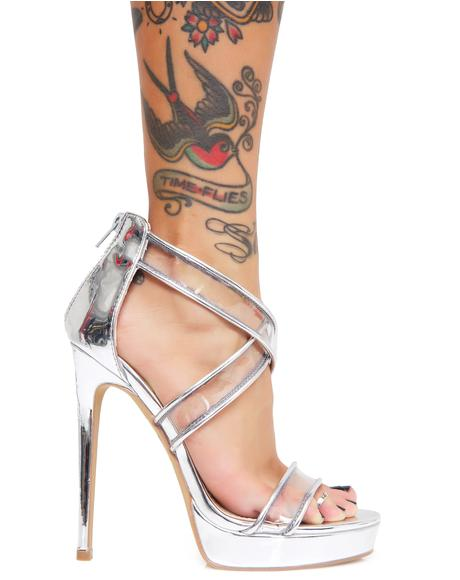 Set The Pace Strappy Heels