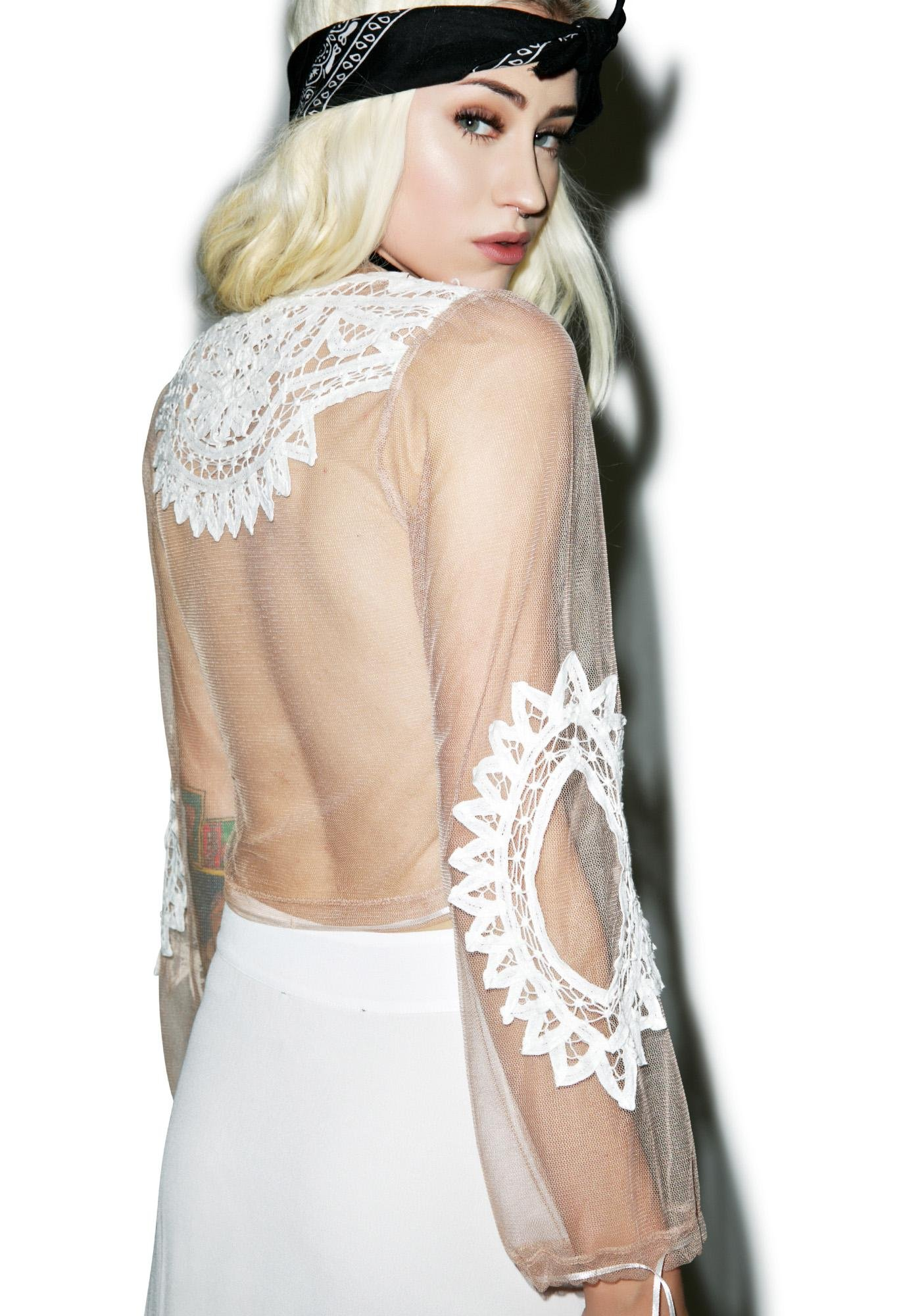 For Love & Lemons Penelope Crop Top