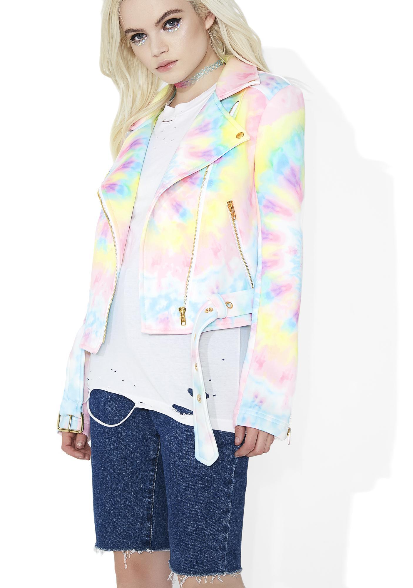 Sugarpills Tie Dye Moto Jacket