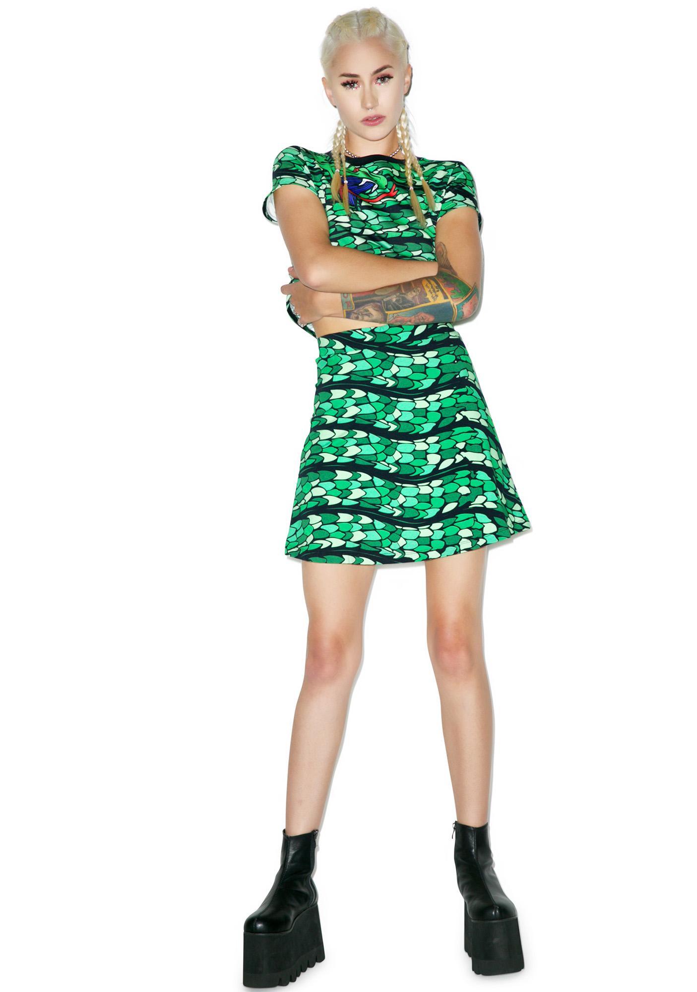Illustrated People Snake Wrap Skirt