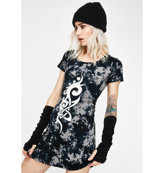 GADO GADO VIENNA Tie Dye T-Shirt Dress