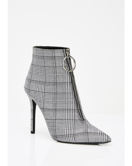 Real Serious Plaid Booties