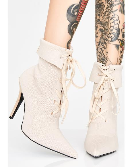Covert Agent Lace-Up Booties