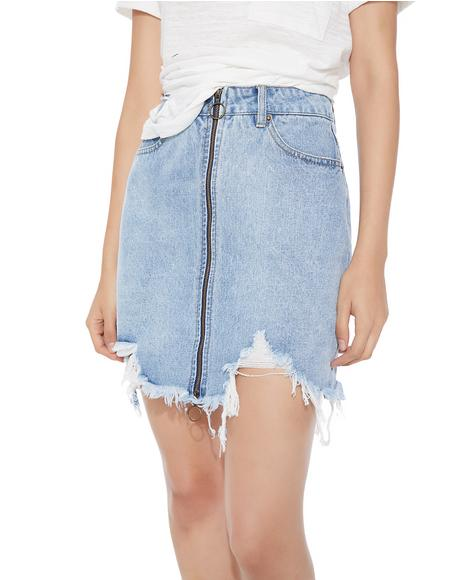 Ease Up Denim Skirt
