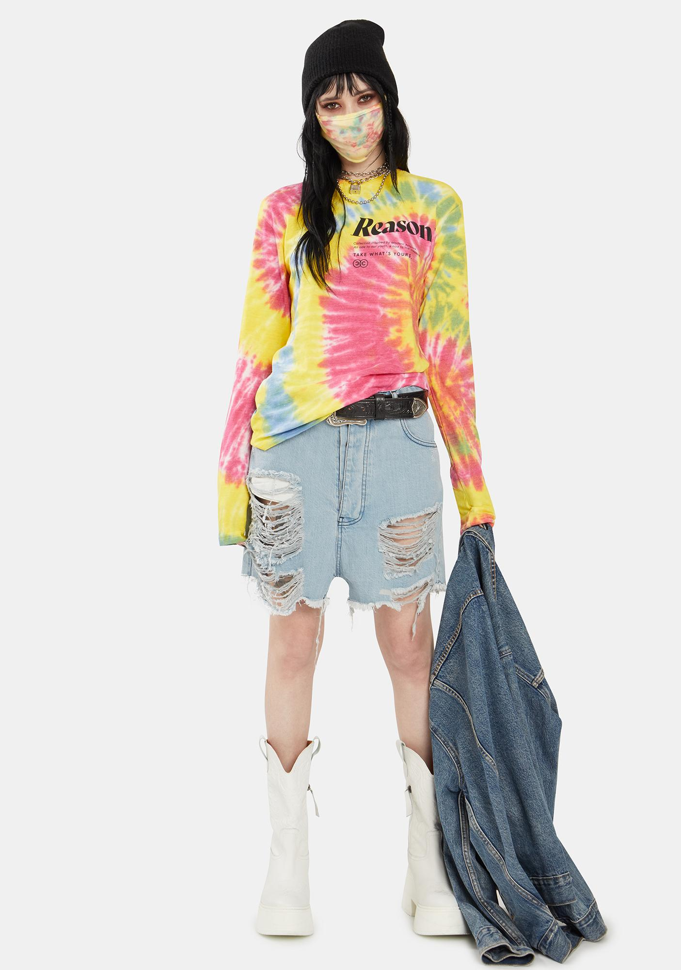 Reason Explosion Tie Dye Long Sleeve Tee