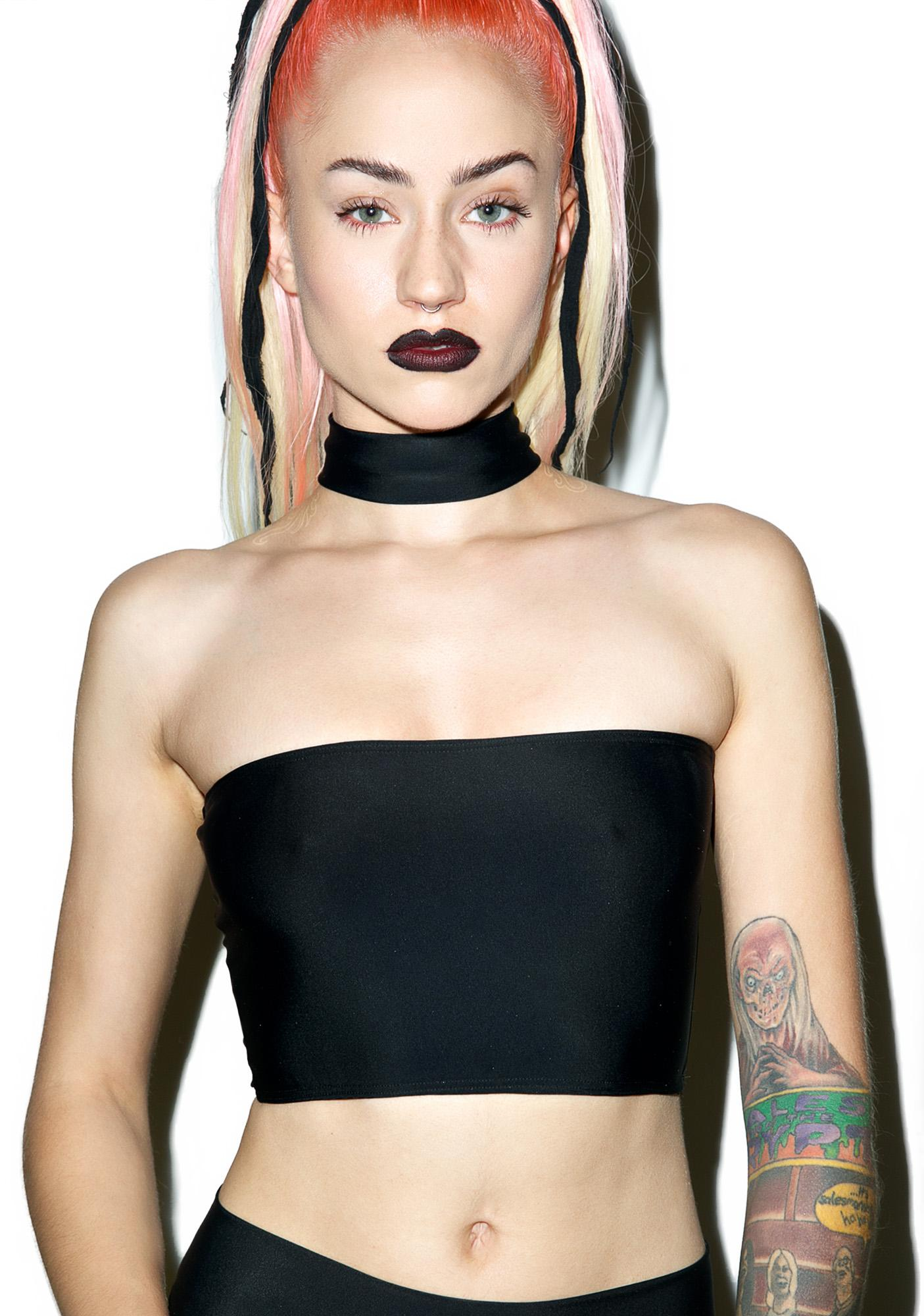 Mi Gente Clothing Choker Tube Top