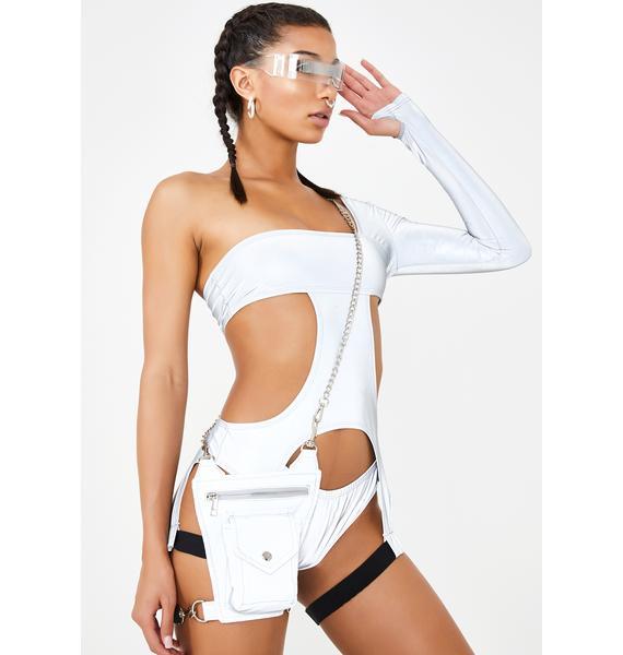 Club Exx Digital Inferno Reflective Bodysuit