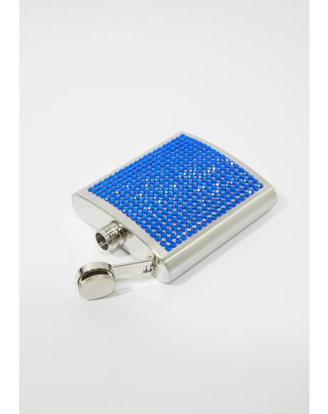 Sea Knew You Would Rhinestone Flask
