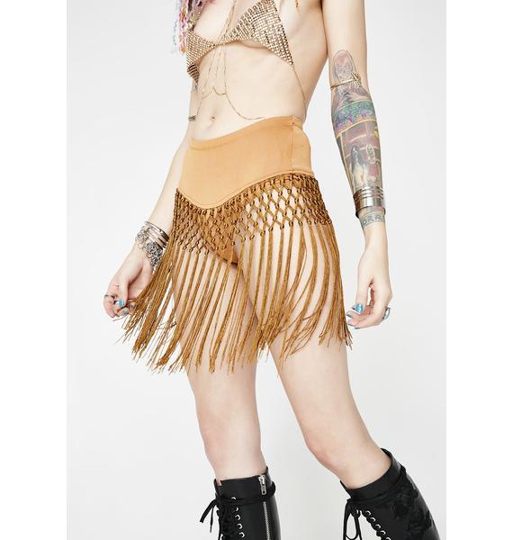 Far Out Fringe Freak Skirt