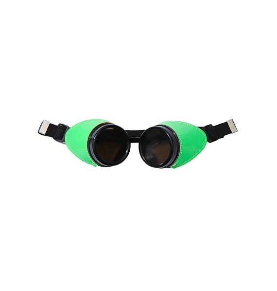 Stitched Up Neon Goggles