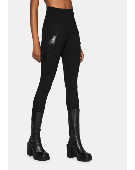 Bat Decal Leggings