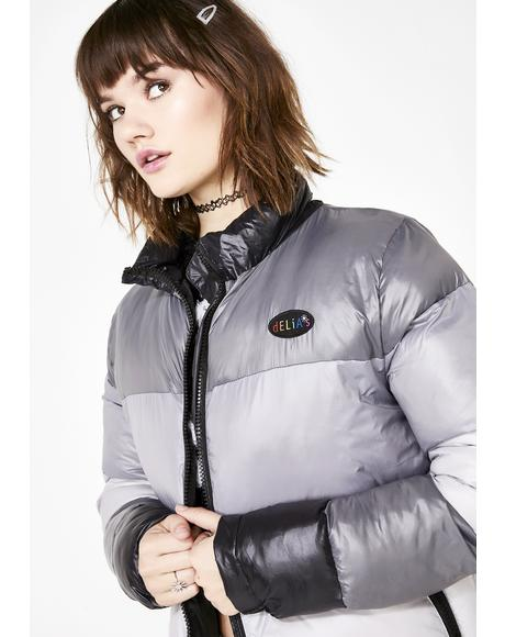 In The Past Lane Puffer Jacket