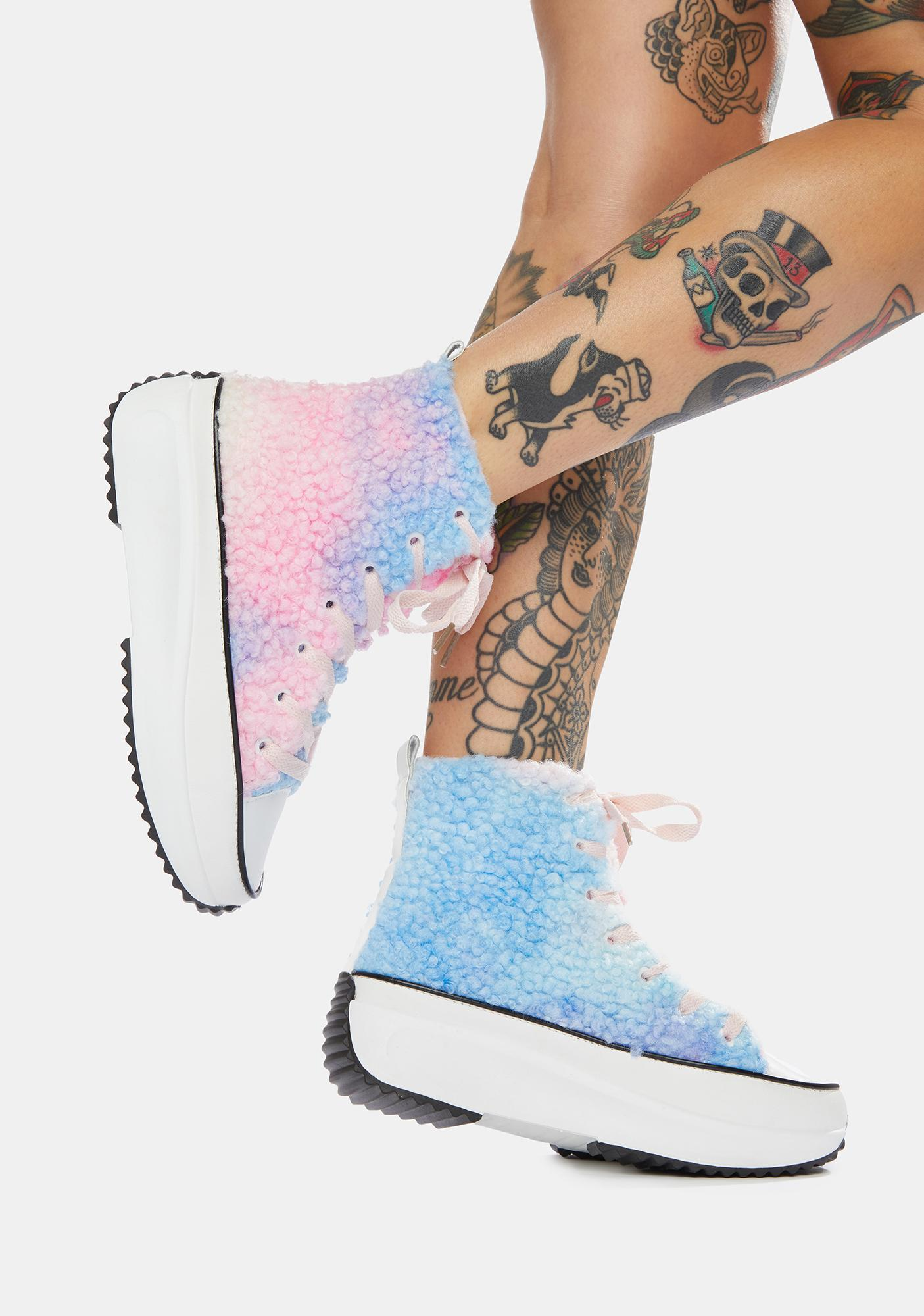 Fuzzy Make The Play High Top Sneakers
