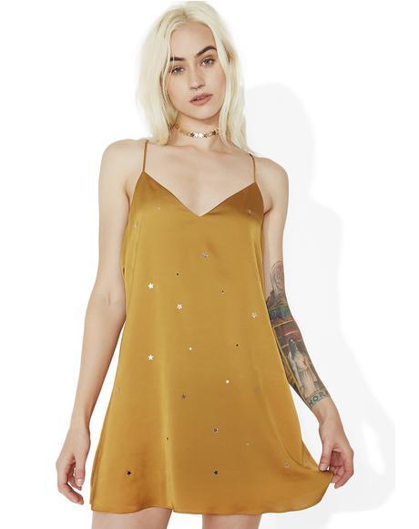 Olive Twinkle Slip Dress