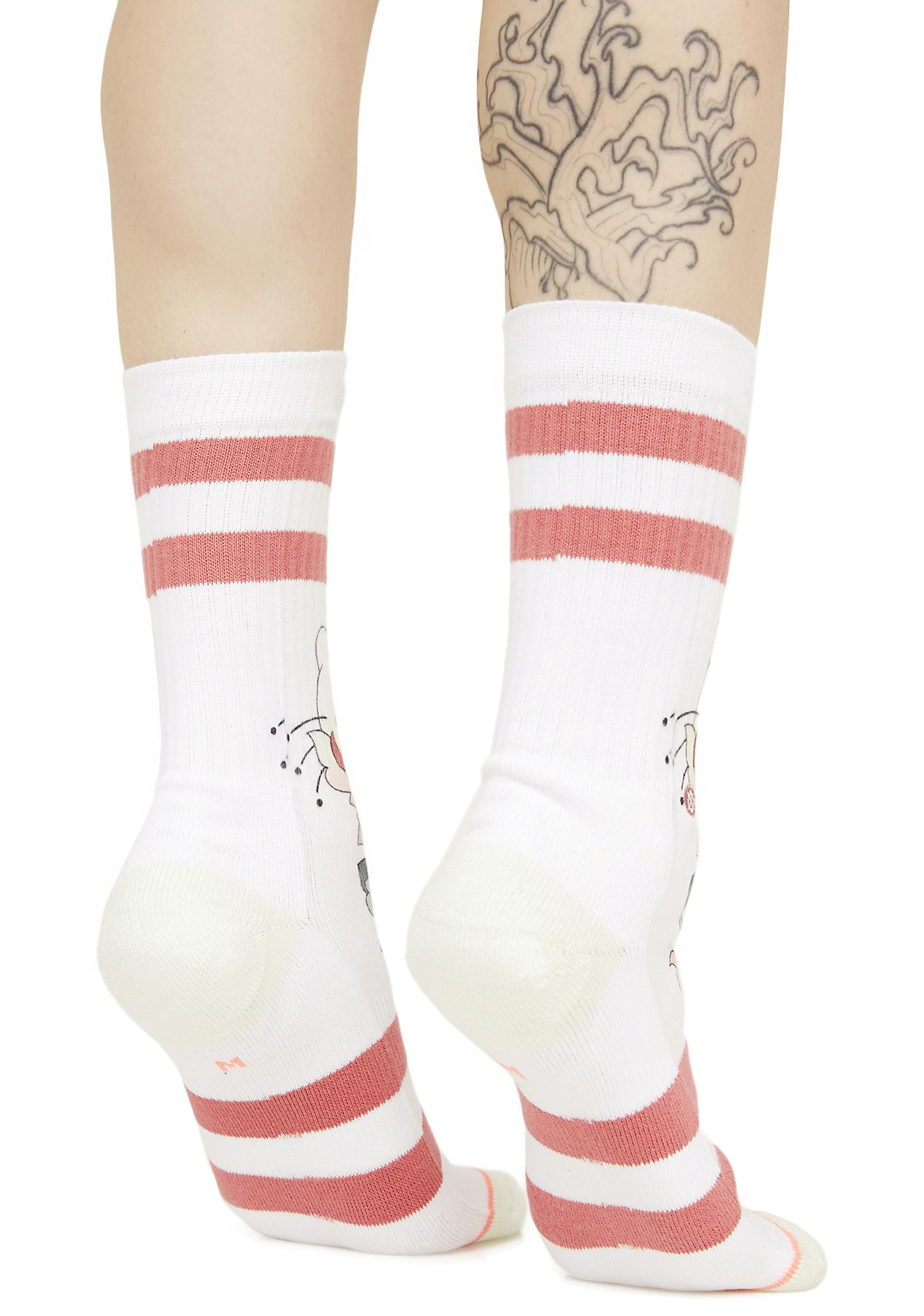 Stance Full Bloom Hello Kitty Crew Socks