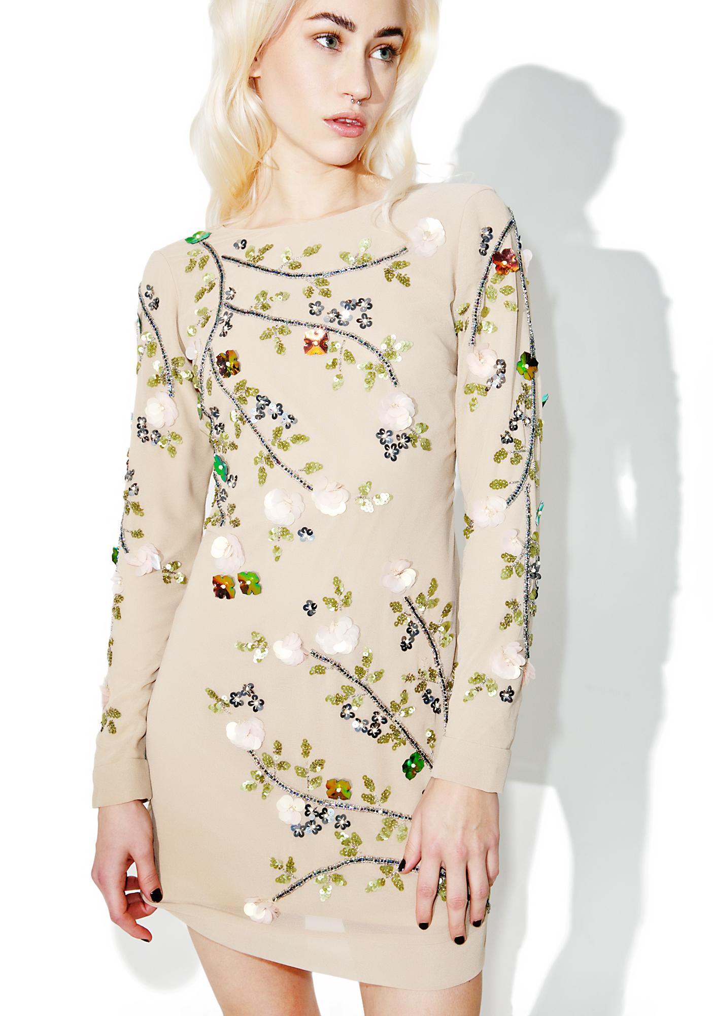 Glamorous Cherry Blossom Bodycon Dress