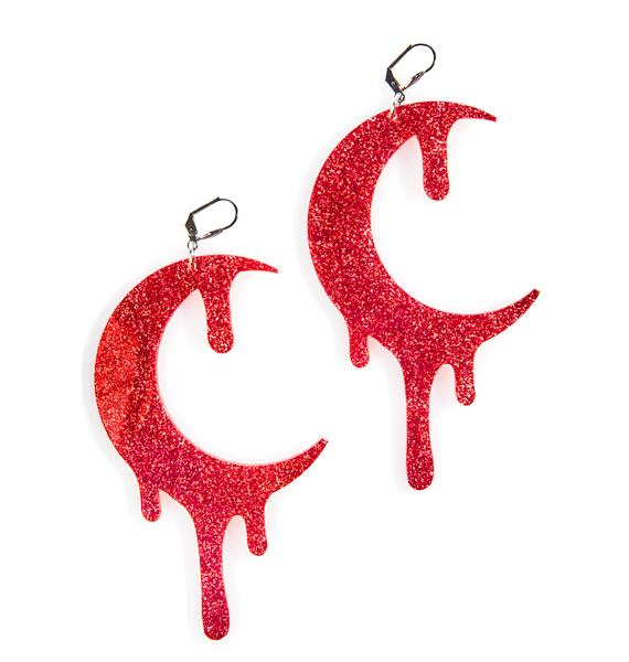 Marina Fini Glitter Bloodmoon Earrings