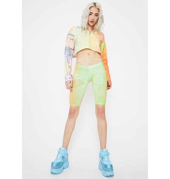 W.I.A Sprinkled Tie Dye Biker Shorts