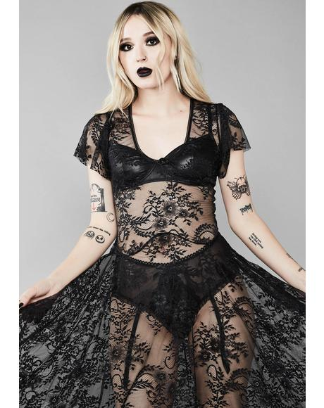Noir Dearly Departed Lace Dress