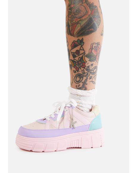 Pink Aiya Platform Sneakers