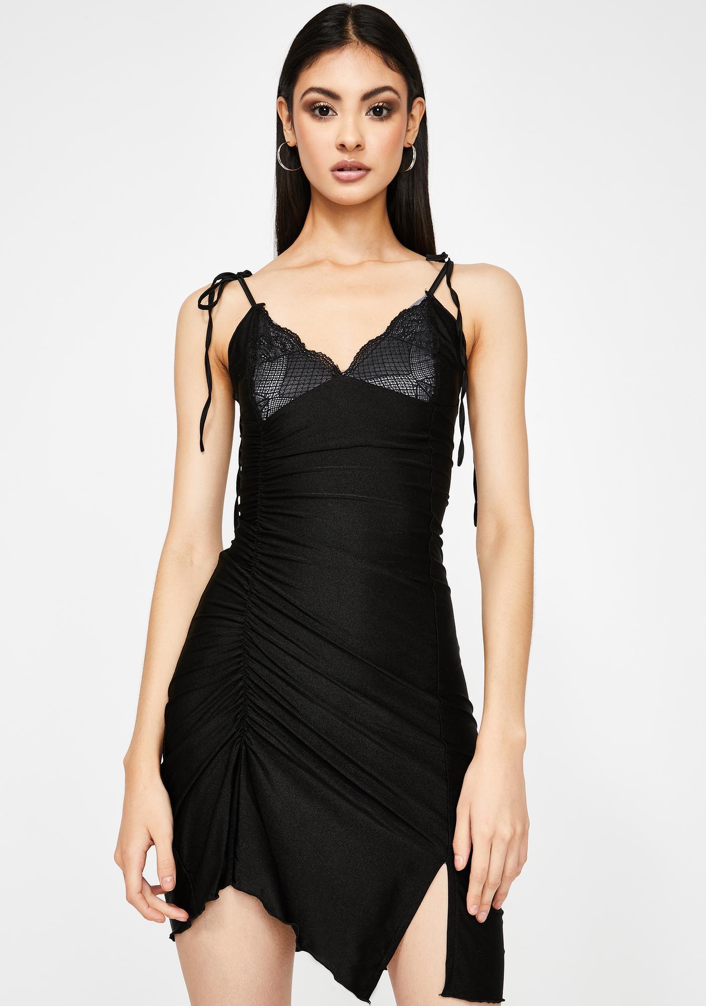 GANGYOUNG Black Spider Dress