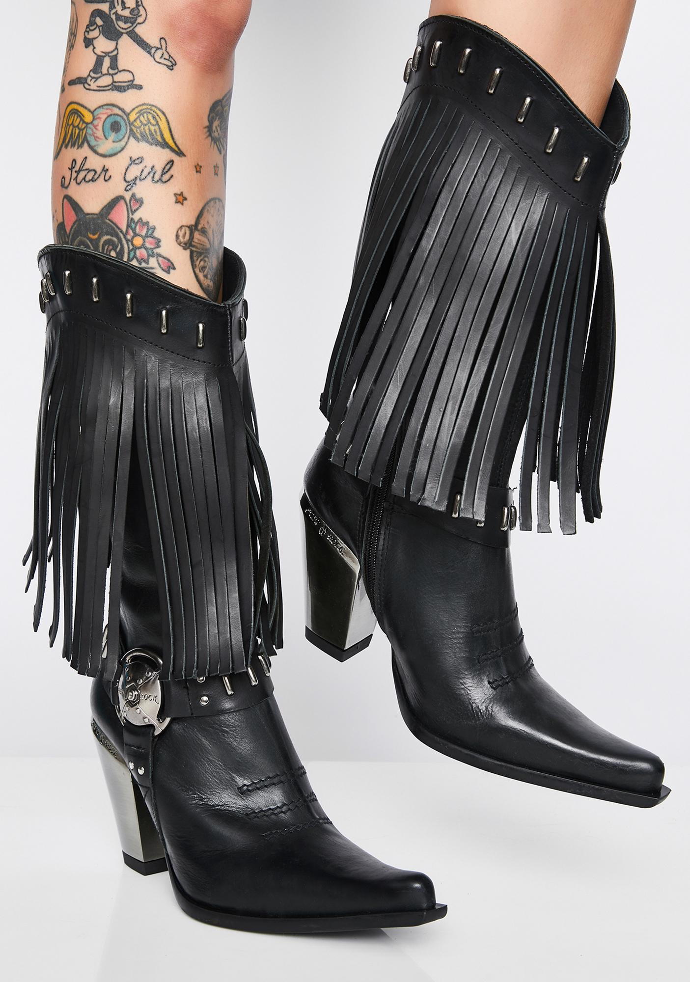 New Rock Nomada Fringe Boots