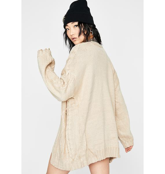 Couch-Ridden Knit Cardigan