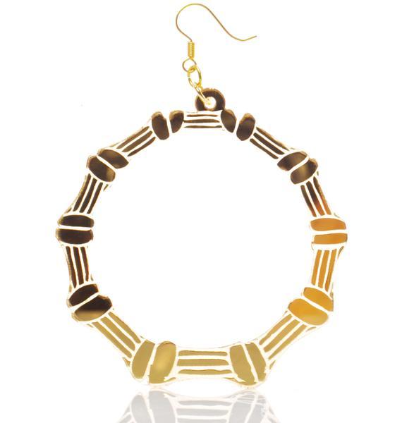 Haus of Dizzy Bamboo Hoop Earrings