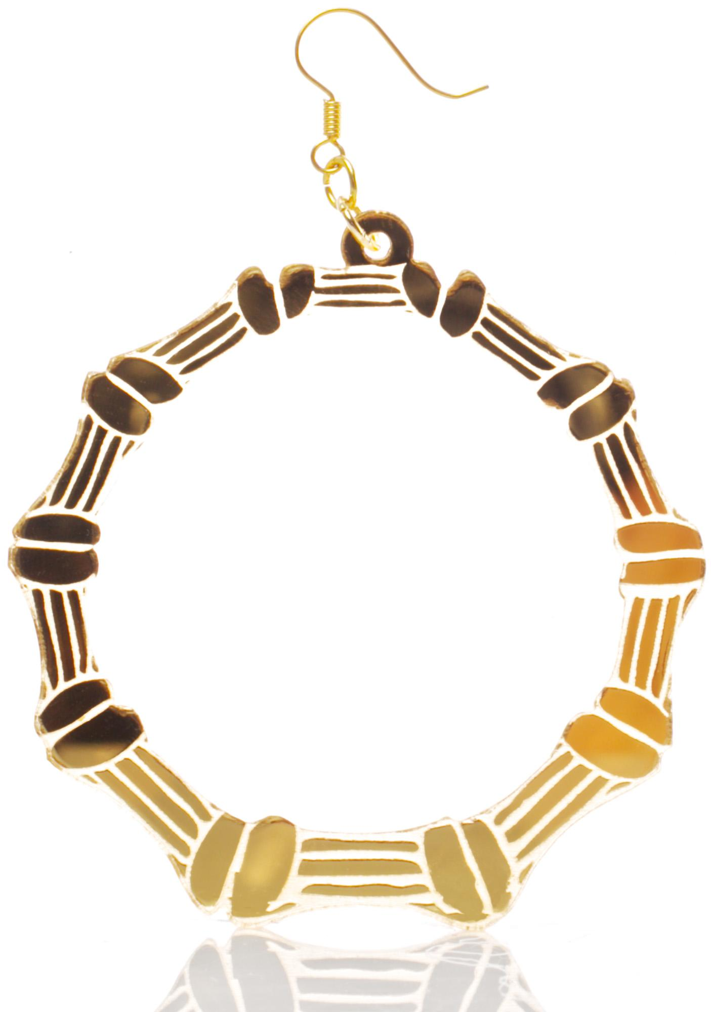 Haus of Dizzy Bamboo Hoop Earrings | Dolls Kill