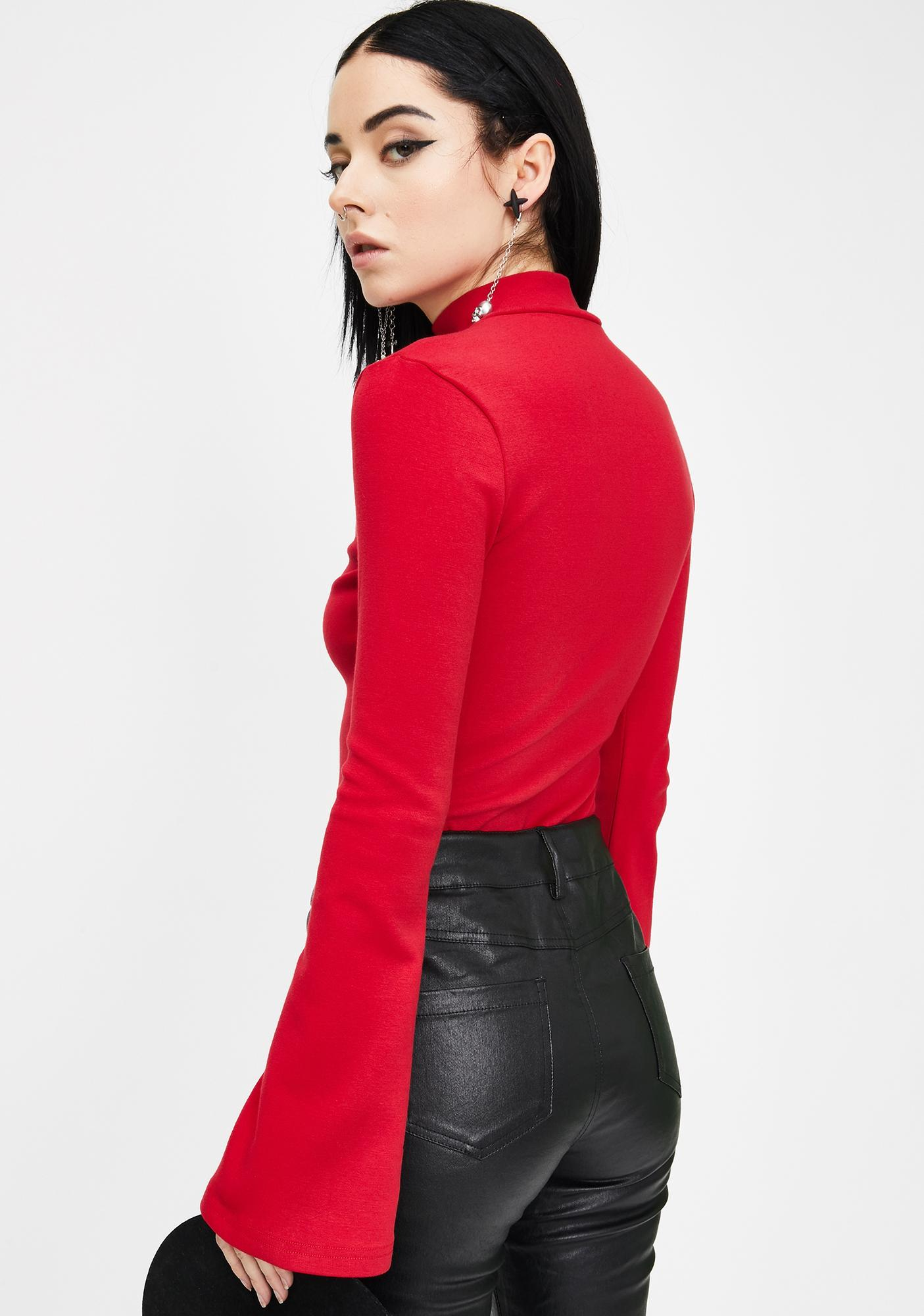 Punk Rave Red Fortune-Telling Witch Top