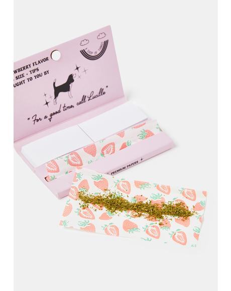 Lucille's Strawberry Flavor Premium Rolling Papers
