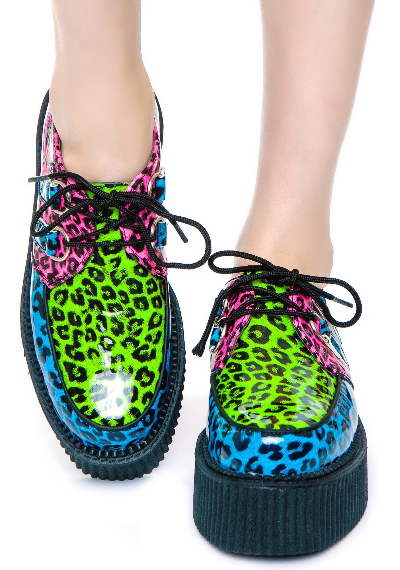 T.U.K. Neon Leopard Mondo Creeper