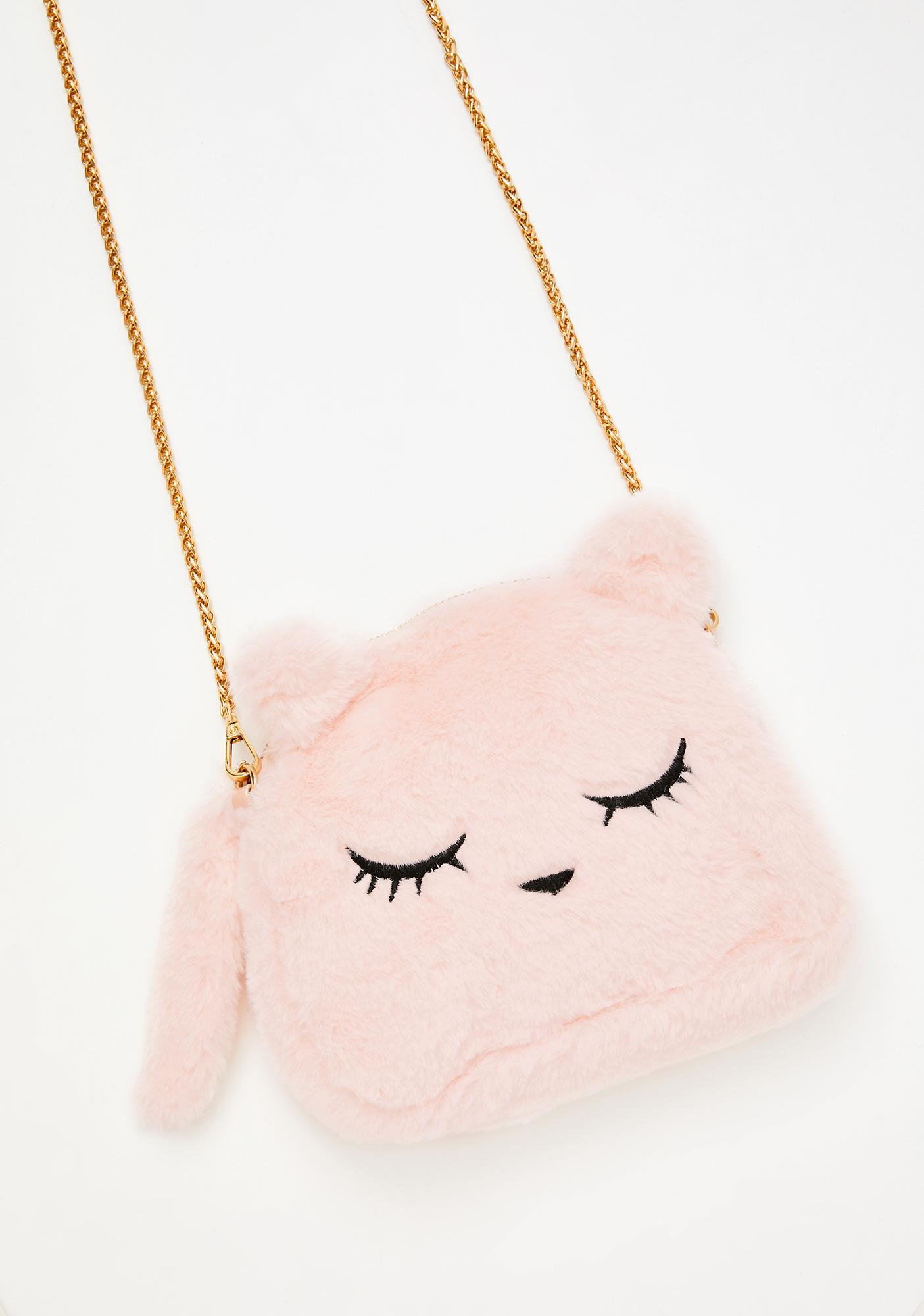 Miss Kitty Dearest Fuzzy Handbag