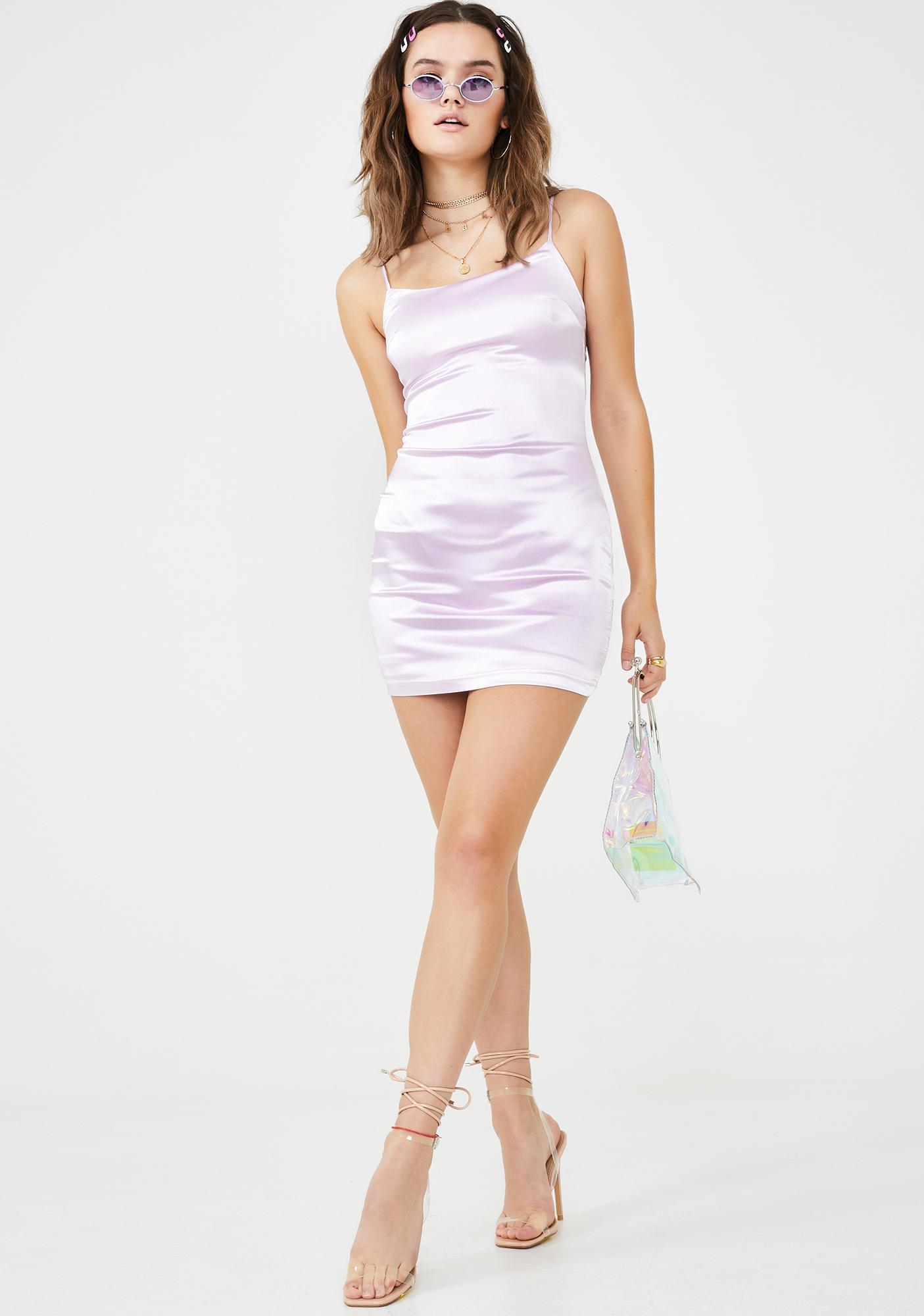 Lilac Lemonade Satin Dress