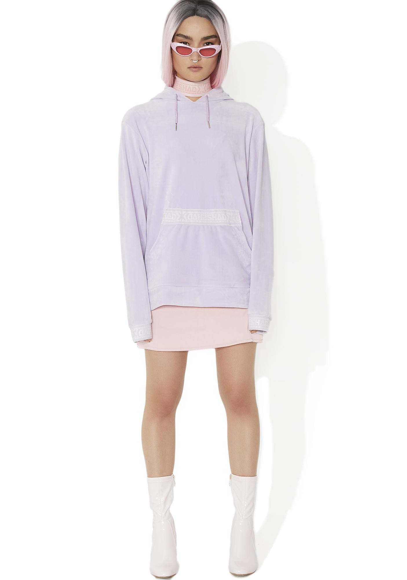 Shade London Velour Hooded Sweat