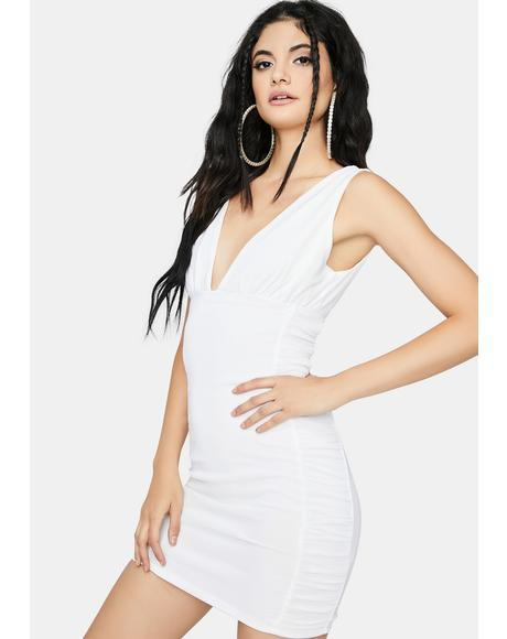 Center Of Attention Ruched Dress