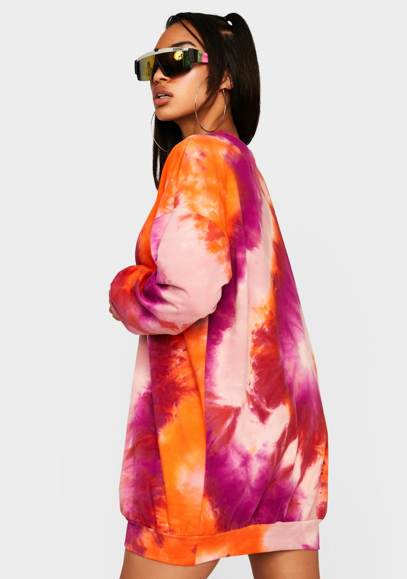 Love Chasing Daybreak Tie Dye Dress