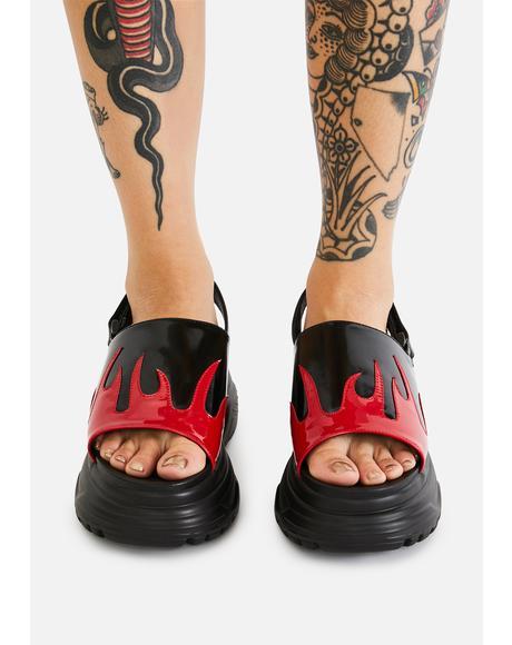Ebo Flame Sandals
