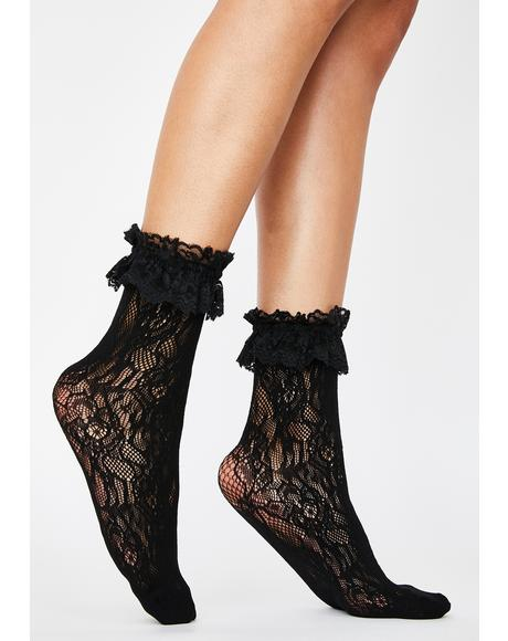 My Treat Lace Ruffle Socks