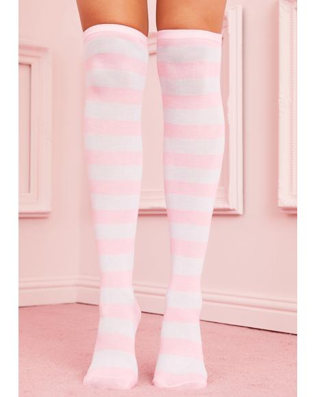 Baby Be My Boo Striped Socks
