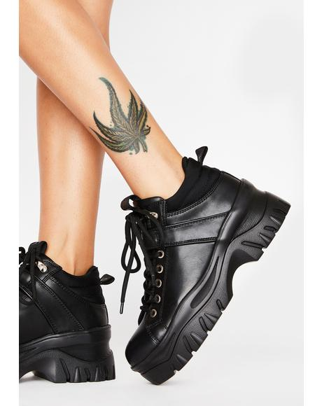 Black Fay Platform Sneakers