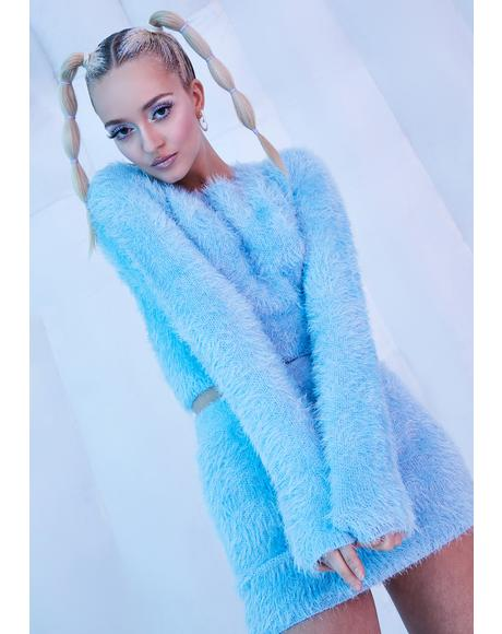 Freeze U Out Fuzzy Knit Sweater