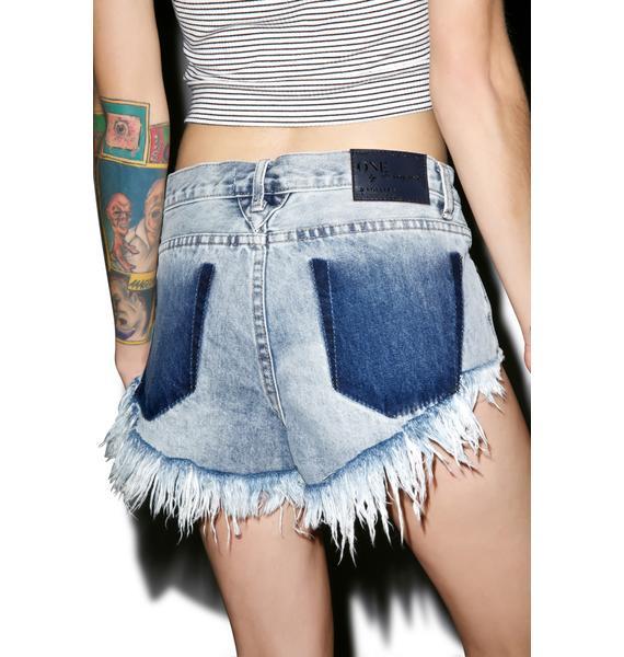 One Teaspoon Bleu Blossom Roller Shorts