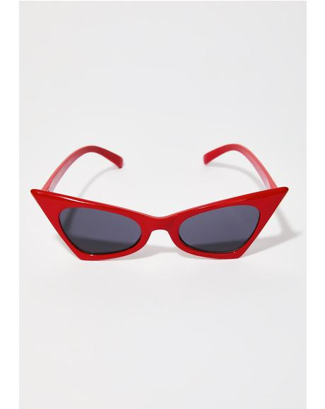 Red Classic Foxy Shades